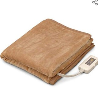 アイリスオーヤマ 電気毛布 フランネル調 ライトブラウン EHB-F1480-L(電気毛布)