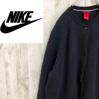 ナイキ(NIKE)のナイキ フリースジャケット スタンドカラー スナップボタン ロゴ刺繍 ロング丈(その他)