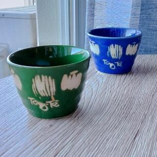 カボチャ柄の耐熱カップ2個セット(グラス/カップ)