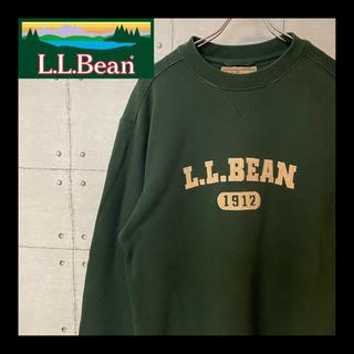 エルエルビーン(L.L.Bean)の★希少 90's★エルエルビーン 刺繍 ビッグロゴ スウェット ハンターグリーン(スウェット)