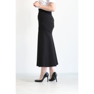 マメ(mame)の今期マメクロゴウチDouble Face Jersey Flared Skirt(ロングスカート)