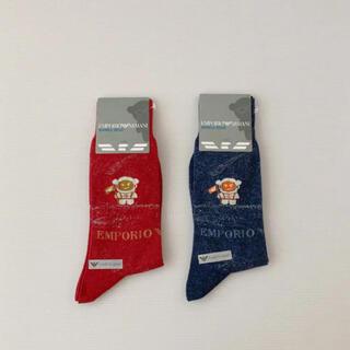 エンポリオアルマーニ(Emporio Armani)の2足❣️新品⭐️エンポリオアルマーニ 靴下 マンガベア ARMANI 宇宙飛行士(ソックス)