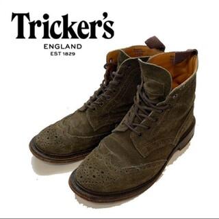 トリッカーズ(Trickers)のTricker's トリッカーズ スエード ブーツ カーキ 23 レディース(ブーツ)