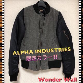 アルファインダストリーズ(ALPHA INDUSTRIES)の即完売!限定カラー ALPHA アルファ ブルゾン MA-1 レディース M(ブルゾン)