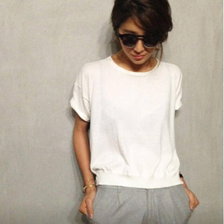 TODAYFUL - 【TODAYFUL】Fine knit Tee