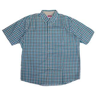 ラングラー(Wrangler)のラングラー コットンポリエステルチェック半袖シャツ(シャツ)