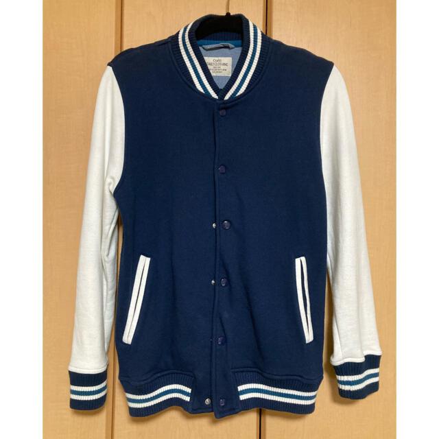 coen(コーエン)のコーエン 紺色スウェットスタジャン 春夏! メンズのジャケット/アウター(スタジャン)の商品写真