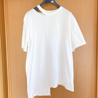 ステュディオス(STUDIOUS)のミン様 neck asymmetry T shirt(Tシャツ(半袖/袖なし))