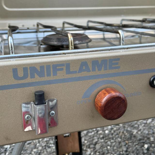 UNIFLAME(ユニフレーム)のユニフレーム UNIFLAME 2バーナー CB缶 廃盤 レア US-1800 スポーツ/アウトドアのアウトドア(ストーブ/コンロ)の商品写真