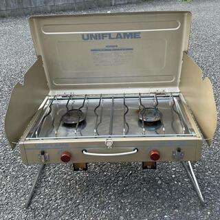 ユニフレーム(UNIFLAME)のユニフレーム UNIFLAME 2バーナー CB缶 廃盤 レア US-1800(ストーブ/コンロ)