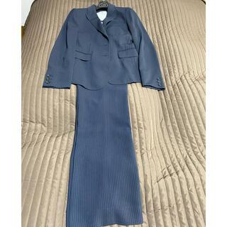 ミッシェルクラン(MICHEL KLEIN)のミッシェルクラン 紺色ストライプ パンツスーツ 価格交渉不可(スーツ)