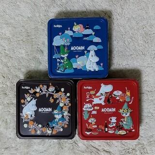 カルディ(KALDI)のカルディ*ムーミンビスケット缶(ミルク・ココア・ラズベリー)3種セット(菓子/デザート)