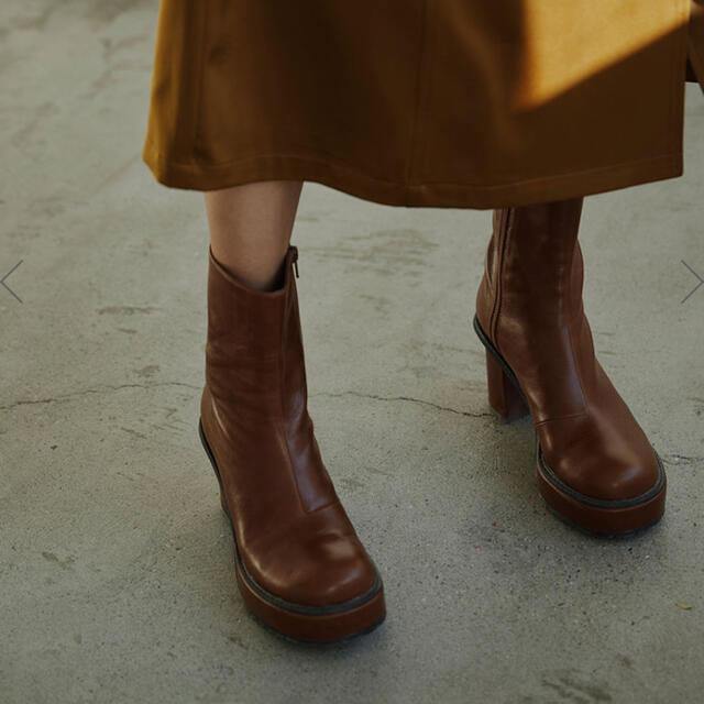 Ameri VINTAGE(アメリヴィンテージ)の⭐︎最終値下げ⭐︎LADY SHARK SOLE BOOTS Mサイズ ブラウン レディースの靴/シューズ(ブーツ)の商品写真