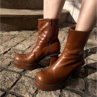 Ameri VINTAGE - LADY SHARK SOLE BOOTS Mサイズ ブラウン