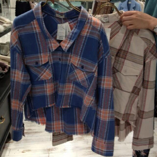 リリーブラウン(Lily Brown)のLilyBrown♡チェックシャツ(シャツ/ブラウス(長袖/七分))