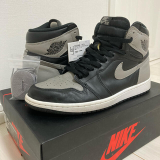 ナイキ(NIKE)の【鑑定済】NIKE AIR JORDAN1 high OG shadow 28㎝(スニーカー)