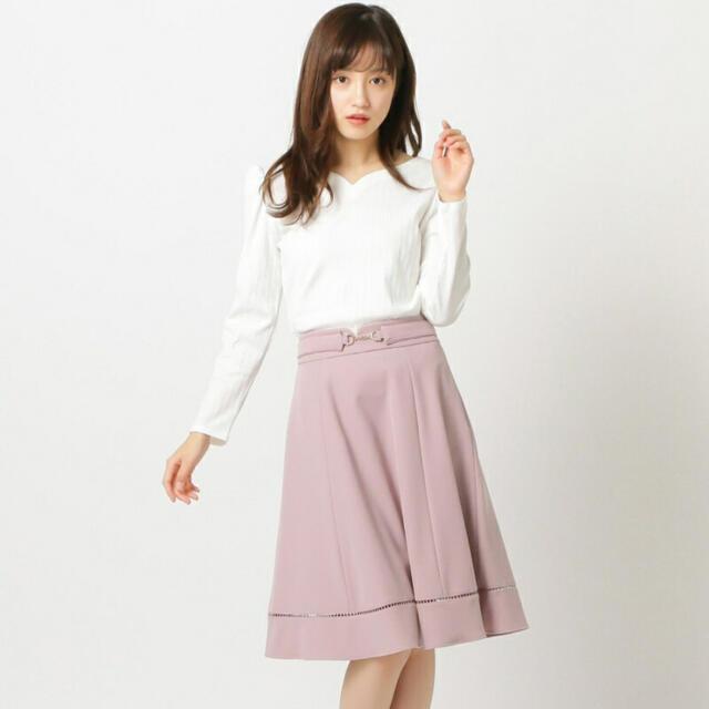 MISCH MASCH(ミッシュマッシュ)のMISCH MASCH 2wayベルト付きフレアスカート  レディースのスカート(ひざ丈スカート)の商品写真