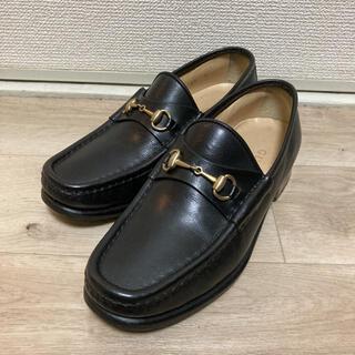 Gucci - GUCCI ビットローファー 35C 黒 イタリア靴