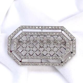 ティファニー(Tiffany & Co.)のティファニー ブローチ TIFFANY&Co. ダイヤモンド PT950(ブローチ/コサージュ)