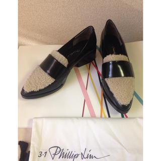 スリーワンフィリップリム(3.1 Phillip Lim)の3.1 Lim ラムファー付ローファー(ローファー/革靴)