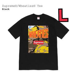 シュプリーム(Supreme)のSupreme Wheaties Tee black L 黒 BOX LOGO(Tシャツ/カットソー(半袖/袖なし))