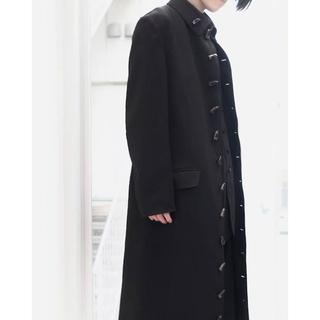 Yohji Yamamoto - 限界価格 Yohji Yamamoto 角ボタンプリーツロングジャケット