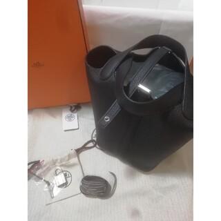 エルメス(Hermes)のHERMES 新品 未使用 ピコタンPM 黒 ブラック(ハンドバッグ)