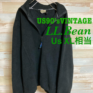 エルエルビーン(L.L.Bean)のLL.Bean ハーフジップフリース希少物XL相当US90'sVINTAGE(トレーナー/スウェット)