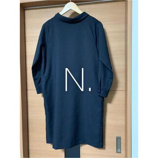 エヌナチュラルビューティーベーシック(N.Natural beauty basic)の✱美品✱ N. バックリボンハイネックワンピース(ひざ丈ワンピース)