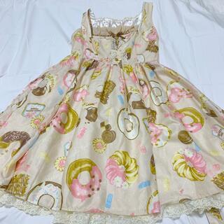 アンジェリックプリティー(Angelic Pretty)のアンジェリックプリティ melty cream donut ジャンパースカート(ひざ丈ワンピース)