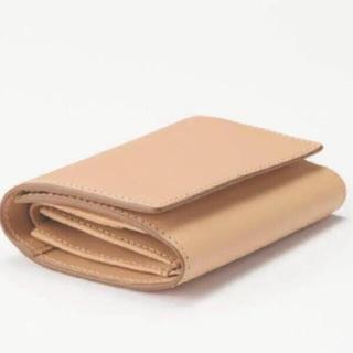 ムジルシリョウヒン(MUJI (無印良品))の無印良品 21SS 新品 イタリア産ヌメ革 三つ折り財布(財布)