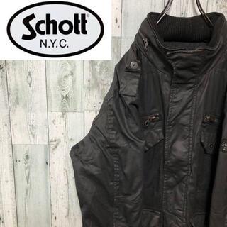 ショット(schott)のショット schott ミリタリージャケット M85型 ブラック フード付(ミリタリージャケット)