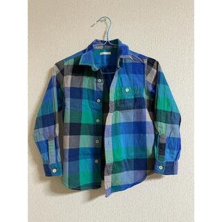 ジーユー(GU)の120センチ チェックシャツ(ブラウス)