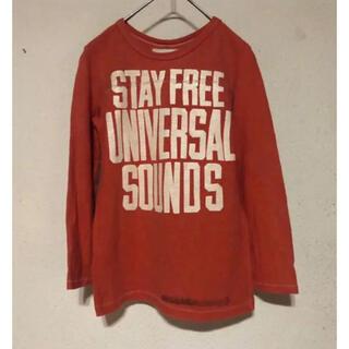 ゴートゥーハリウッド(GO TO HOLLYWOOD)のGTH STAY FREE ロンTee アカ 140T(Tシャツ/カットソー)