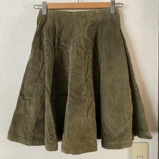 インディオ(indio)のindio スカート コーデュロイ モスグリーン Mサイズ(ひざ丈スカート)