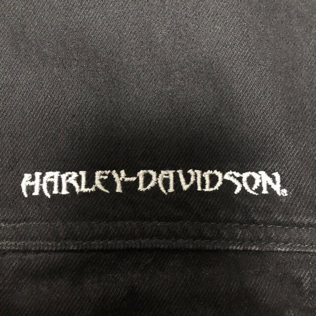 Harley Davidson(ハーレーダビッドソン)のHarley-Davidson デニムジャケット  型押し メンズのジャケット/アウター(Gジャン/デニムジャケット)の商品写真