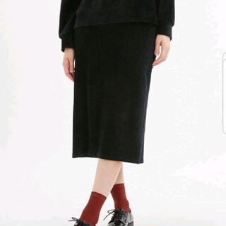 ジーユー(GU)のGU ジーユー ベロアナローミディスカート(その他)