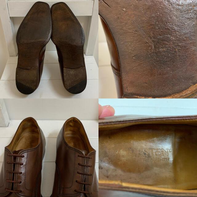 J.M. WESTON(ジェーエムウエストン)のJ.M. WESTON VINTAGE FRANCE製 Uチップレザーシューズ メンズの靴/シューズ(ドレス/ビジネス)の商品写真