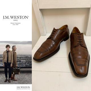 ジェーエムウエストン(J.M. WESTON)のJ.M. WESTON VINTAGE FRANCE製 Uチップレザーシューズ(ドレス/ビジネス)