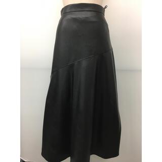 ロートレアモン(LAUTREAMONT)のdroite ロートレアモン購入レザースカート黒 新品未使用購入(ひざ丈スカート)