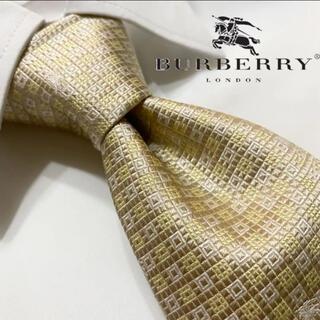 BURBERRY - 美品!肉厚重厚!ホースロゴ!光沢!】BURBERRY 最高級シルクネクタイ