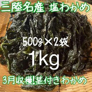 岩手県産 塩蔵 わかめ 産地直送! 美味しい!(野菜)