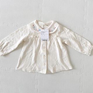 coeur a coeur - 新品 タグ付 クーラクール ブラウスTシャツ サイズ 80