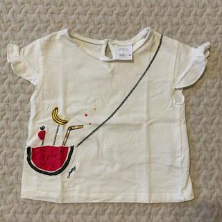 ザラ(ZARA)のZARA/フルーツ柄トップス/80(Tシャツ)