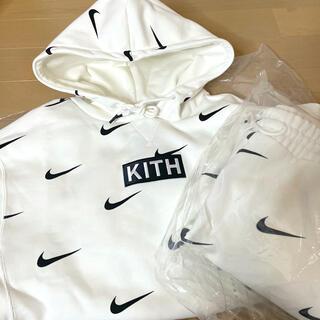 シュプリーム(Supreme)のKith & Nike 上下セットアップ パーカー スウェットパンツ  白 S(パーカー)