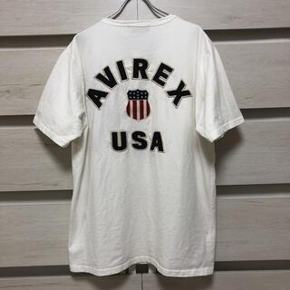 AVIREX - Avirex アヴィレックス 刺繍 ブラック ヘビーウエイト Tシャツ