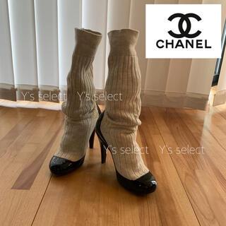 CHANEL - 【シャネル】CHANEL ソックス ブーツ 35(22cm) 紗栄子