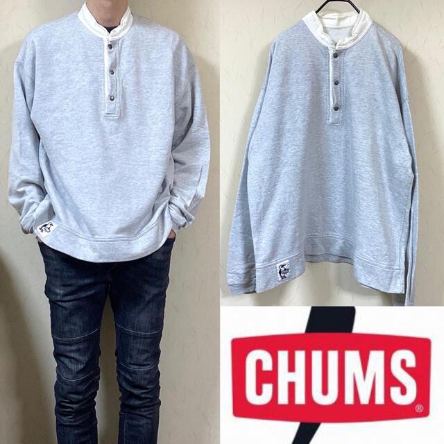 CHUMS(チャムス)の90's CHUMS チャムス ハリケーントップ スウェット ボタン メンズのトップス(スウェット)の商品写真