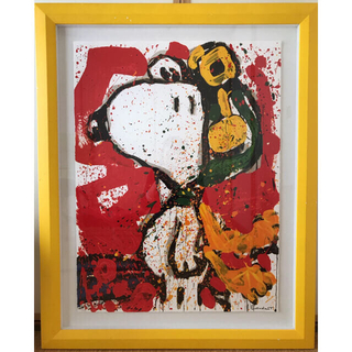 """ピーナッツ(PEANUTS)のトムエバハート スヌーピーPEANATS """"TO REMEMBER"""" リトグラフ(絵画/タペストリー)"""