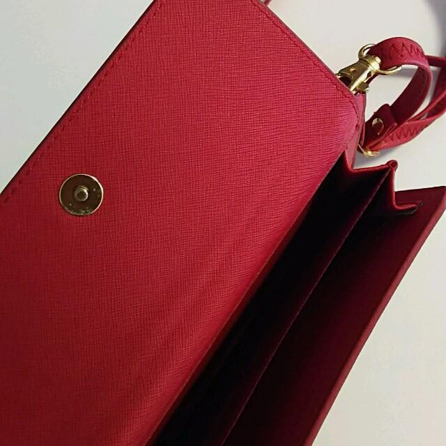 お財布ショルダー♡赤 レディースのバッグ(ショルダーバッグ)の商品写真